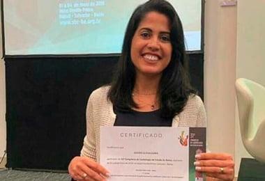 Trabalho científico apresentado por fisioterapeuta é premiado no 31º Congresso de Cardiologia da Bahia