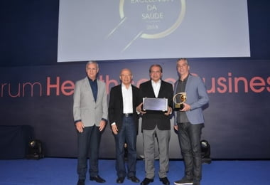 HSI é homenageado durante Prêmio Excelência da Saúde, em São Paulo
