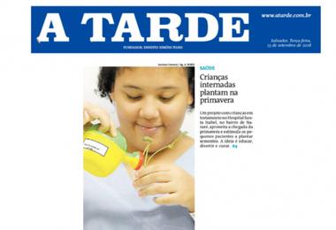 Primavera: HSI estimula contato das crianças com a natureza e é destaque no Jornal A Tarde