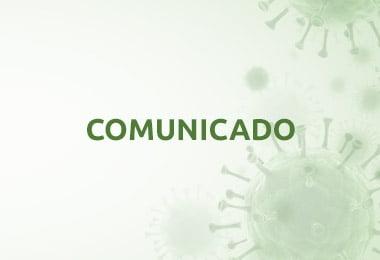 Coronavírus: Comunicado