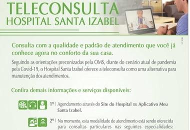 Hospital Santa Izabel utiliza novas tecnologias digitais que facilitam comunicação à distância