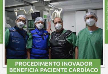Procedimento inovador beneficia paciente cardíaco