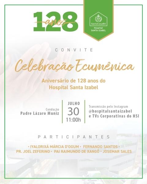 Hospital Santa Izabel completa 128 anos de serviços transformando conhecimento em cuidado de excelência